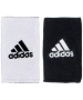Adidas Interval Large Reversible Tennis Wristbands (Black/White) - Adidas Sports Headbands and Wristbands