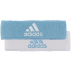 Adidas Interval Reversible Tennis Headband (Light Blue/ White) - Adidas Apparel