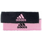 Adidas Interval Reversible Tennis Headband (Black/Light Pink) -