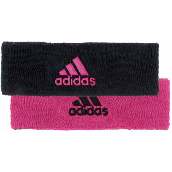 Adidas Interval Reversible Tennis Headband (Black/Intense Pink)
