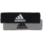 Adidas Interval Reversible Tennis Headband (Black/White/Grey) - Adidas Apparel