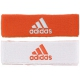 Adidas Interval Reversible Tennis Headband (Orange/White) - Adidas Sports Headbands and Wristbands
