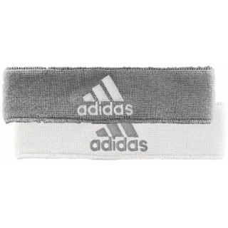 Adidas Interval Reversible Tennis Headband (Grey/White)