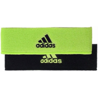 Adidas Interval Reversible Tennis Headband (Lime/Black)
