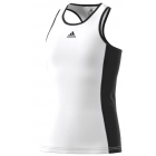 Adidas Girls' Court Tank (White/ Black) - Adidas Junior's Tennis Apparel