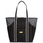 cinda b Jet Set Black Tennis Court Bag - Tennis Tote Bags