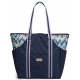 cinda b Midnight Calypso Tennis Court Bag - Designer Tennis Bags - Luxury Fabrics and Ultimate Functionality