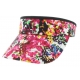 Adidas Women's Match Visor (Floral/ Black) - New Style Tennis Apparel