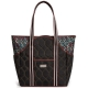 cinda b Autumn Night Tennis Court Bag - Designer Tennis Bags - Luxury Fabrics and Ultimate Functionality