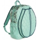 cinda b Purely Peacock Tennis Backpack - Designer Tennis Bags - Luxury Fabrics and Ultimate Functionality