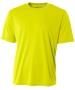 A4 Men's Performance Crew Shirt (Safety Yellow) - A4 Team Tennis Apparel