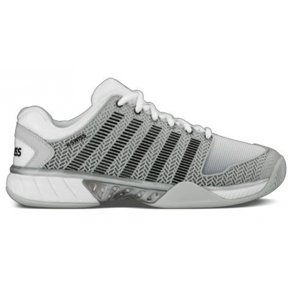 K-Swiss Men's Hypercourt Express Tennis Shoes (Gray/White/Silver)