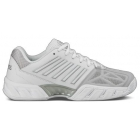 K-Swiss Women's Bigshot Light 3 Tennis Shoes (White/Silver) - Lightweight Tennis Shoes