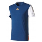 Adidas Men's Melbourne Tee (Mystery Blue/Glow Orange) - Adidas Men's Tennis Apparel