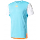 Adidas Men's Melbourne Tee (Samba Blue/Glow Orange) - Adidas Men's Tennis Apparel