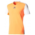 Adidas Men's Melbourne Tee (Glow Orange/White) - Adidas Men's Tennis Apparel