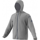 Adidas Men's Club Sweat Hoodie (Grey Heather) - Men's Outerwear