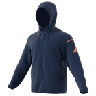Adidas Men's Club Sweat Hoodie (Mystery Blue) - Men's Jackets
