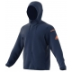 Adidas Men's Club Sweat Hoodie (Mystery Blue) - Men's Outerwear