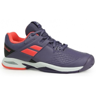 4, Purple//Pink Babolat Junior All Court Tennis Shoe
