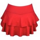 DUC Belle Women's Tennis Skirt (Red) - DUC Women's Team Tennis Skirts and Skorts