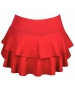 DUC Belle Women's Tennis Skirt (Red) - Women's Skirts