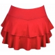 DUC Belle Women's Tennis Skirt (Red) - DUC Women's Apparel