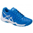 Asics Gel Resolution 7 Junior Tennis Shoes (Director Blue/Silver/White) - Tennis For Kids