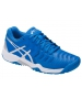Asics Gel Resolution 7 Junior Tennis Shoes (Director Blue/Silver/White) - Kids Tennis Shoes