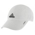 Adidas Men's Adizero II Cap (White/ Black/ Grey) - Adidas Tennis Caps & Visors