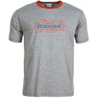 Babolat Men's Basic Training Tennis Tee (Grey) - Babolat Tennis Apparel
