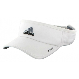 Adidas Men's Adizero II Visor (White/ Black/ Grey)