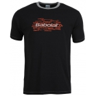 Babolat Men's Basic Training Tennis Tee (Dark Grey) - Discount Tennis Apparel