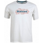 Babolat Men's Basic Training Tennis Tee (White) - Discount Tennis Apparel