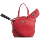 Court Couture Cassanova Tennis Bag (Quilted Red) - Court Couture Tennis Bags