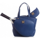 Court Couture Cassanova Tennis Bag (Quilted Navy) - Court Couture