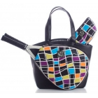 Court Couture Cassanova Tennis Bag (Multi Black) - Court Couture