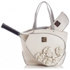 Court Couture Cassanova Tennis Bag (White Rose) - Court Couture