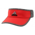 Adidas Men's Adizero II Visor (Red/ Black/ Heather) - Adidas Caps & Visors Tennis Apparel