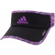 Adidas Women's Adizero II Visor (Black/ Purple/ Raffia) - Adidas Apparel