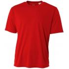 A4 Men's Performance Crew Shirt (Scarlet) - Men's Tennis Apparel