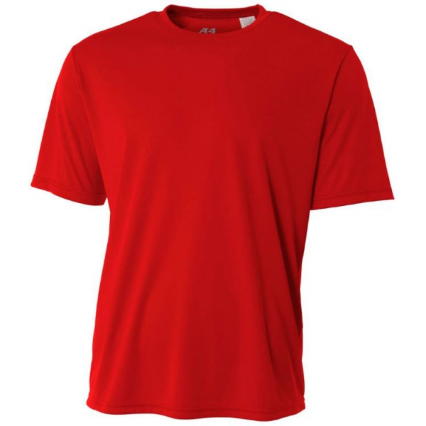 A4 Men's Performance Crew Shirt (Scarlet)