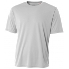 A4 Men's Performance Crew Shirt (Silver) - Men's Tennis Apparel