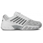 K-Swiss Men's Bigshot Light 3 Tennis Shoes (White/Silver) - K-Swiss Bigshot Tennis Shoes