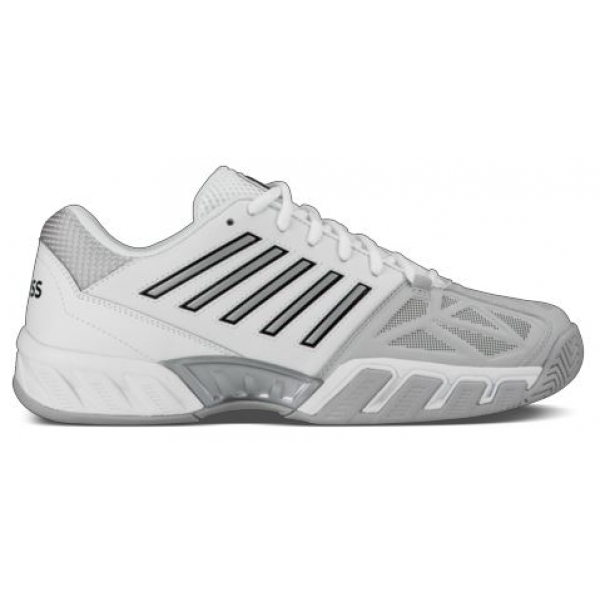 K-Swiss Men's Bigshot Light 3 Tennis Shoes (White/Silver)