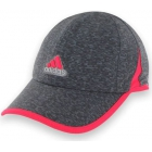 Adidas Women's adiZero Extra Relaxed Tennis Cap (Granite/ Pink) - Tennis Hats