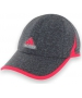 Adidas Women's adiZero Extra Relaxed Tennis Cap (Granite/ Pink) - New Style Tennis Apparel