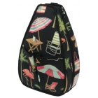 40 Love Courture Key West Sophi Backpack - Designer Tennis Bags - Luxury Fabrics and Ultimate Functionality