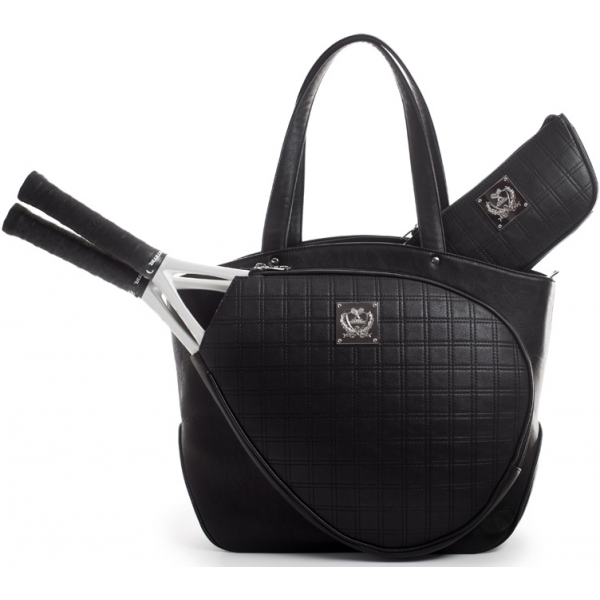 Court Couture Cassanova Tennis Bag (Quilted Obsidian Black)