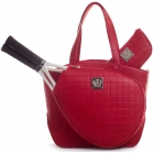 Court Couture Cassanova Tennis Bag (Quilted Ruby) - Court Couture